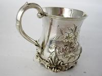 Early Victorian Inverted Bell Shaped Silver Christening Mug (4 of 6)