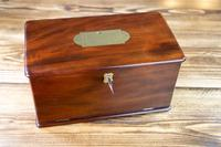 Solid Mahogany Drop Front Georgian Box 1800 (9 of 9)