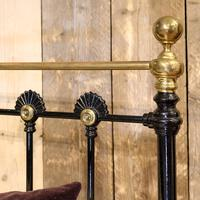 Late Victorian Cast Iron Antique Bed in Black (7 of 8)