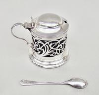 Edwardian Pierced Silver Mustard Pot by Joseph Rodgers & Sons, Sheffield 1905 (3 of 7)