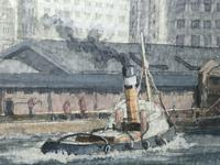 1950's Watercolour RMS Empress of England & Britain Liner Ships Liverpool Mersey (6 of 12)