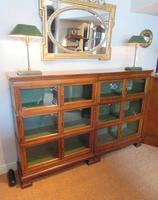 Superb Antique Oak Barrister's Double Glazed Bookcase (11 of 11)
