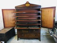 Magnificent 18th Century English Linen Press with Marquetry Urns c.1790 (14 of 20)