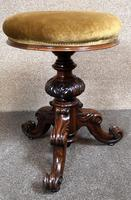 Victorian Rosewood Piano Stool c.1860 (3 of 6)