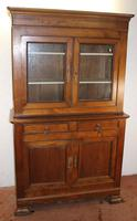 1900's Large Country style French Solid Walnut Double Buffet