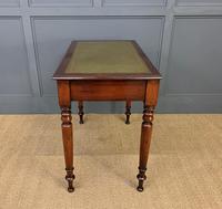 Victorian Mahogany 2 Drawer Writing Table (6 of 13)