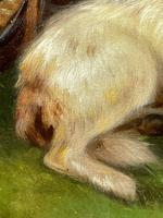 """19th Century Oil Painting Sporting """"Game Dogs"""" Signed Robert Cleminson (43 of 48)"""