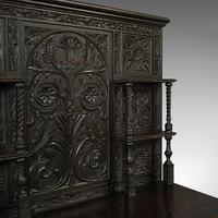 Antique Charles II Revival Dresser, English, Oak, Sideboard, Victorian c.1880 (9 of 10)