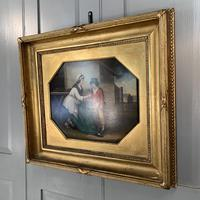 Antique Georgian oil painting study of mother and son at The Old Manor, Abbots Morton, Worcs (3 of 10)