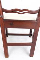 Georgian Mahogany Ladderback / Desk Chair (5 of 13)