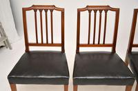 Set of 4 Antique Mahogany & Leather Dining Chairs (10 of 11)