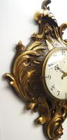 Impressive French Carved Cartel Wall Clock 8 Day Movement Scrolling leaf design 84cm High (3 of 13)