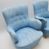 Pair of Swedish Vintage Armchairs by Carl Malmsten (4 of 6)