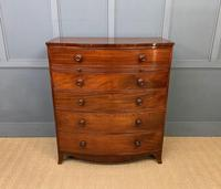 George IV Large Mahogany Bow Chest of Drawers