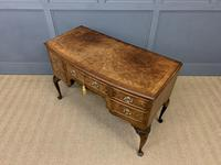 Burr Walnut Bow Fronted Desk / Table c.1910 (12 of 13)