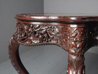 Unusual Anglo-Indian Hardwood Occasional Table (6 of 11)