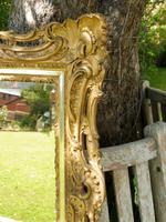 Gilded Rococo Style Wood Mirror Bevelled Glass 1900 (3 of 12)
