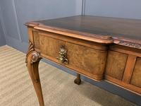Excellent Queen Anne Style Burr Walnut Writing Table (4 of 16)