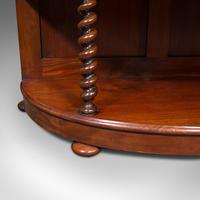 Antique Whatnot Bookshelf, English, Mahogany, Demi-lune, Bookcase, Victorian (12 of 12)