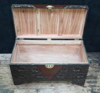 Early 20th Century Oriental Carved Teak and Camphor Wood Chest (11 of 11)