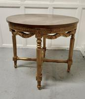 Round Gilt Occasional Table (4 of 4)