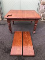 Antique Golden Oak Wind Out Extending Dining Table (2 of 11)