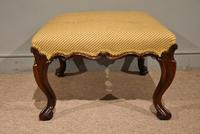 Victorian Carved Rosewood English Stool (2 of 5)