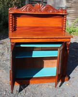 1900's Carved Mahogany 2 Door Chiffonier with Back (2 of 4)