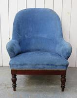 Antique French Empire Library Armchair (2 of 9)