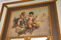 Very Tall Antique Giltwood Mirror with Oil Painting (8 of 12)