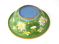 Fine Japanese Green Cloisonné Orchid Bowl (5 of 5)