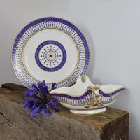 18th Century Sevres Porcelain Sauciere A Deux Sauceboat & Plate Pois Bleu 1788 (20 of 20)