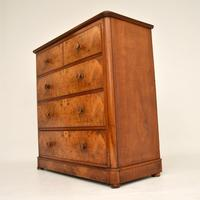 Antique Victorian Burr Walnut  Chest of Drawers (4 of 11)