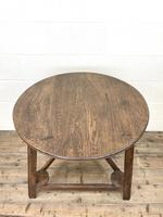 Traditional Style Oak Cricket Table (9 of 10)