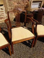 Set of 8 Hepplewhite Style Mahogany Dining Chairs (4 of 12)