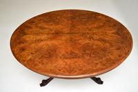 Antique  Victorian Burr Walnut Loo Table (4 of 13)