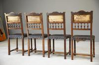 4 French Leather Dining Chairs (6 of 12)
