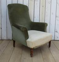 19th Century French Napoleon III Armchair for re-upholstery