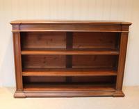 Substantial Oak Open Bookcase (5 of 9)