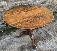 Large Georgian Oak Tilt Top Occasional Table (6 of 21)