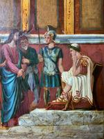 Large Gothic Oak Framed 19th Century Religious Old Master Oil Painting for TLC (4 of 14)