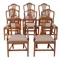 Set of 8 (6+2) Georgian mahogany dining chairs C1800