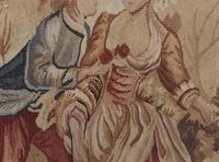 Antique French Tapestry Classical Courtly Love Romance c.1860 (14 of 17)