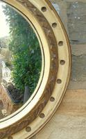 Regency Style Circular Convex Mirror Eagle Crest (5 of 6)