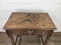 Antique Oak Carved Green Man Side Table (5 of 10)
