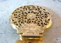 Georgian Pocket Watch Chain Fob 1830s Antique Brass Verge Balance Cock Fob (6 of 10)