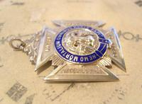 Vintage Sterling Silver Masonic Pocket Watch Chain Fob 1941 Royal Order of Buffaloes (9 of 9)