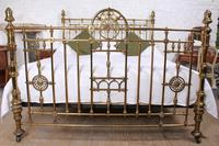 Handsome Super King Size Victorian all Brass Bed (2 of 12)