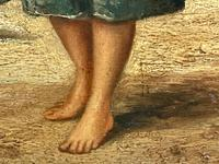 """Pair of Victorian Oil Paintings """"Cockle Pickers"""" Female Figures on Beach Shoreline (10 of 33)"""