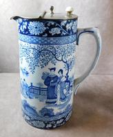 """Booth's """"Ming Pattern"""" Silicon China Lidded Jug (2 of 5)"""